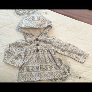Adorable + soft hooded fleece jacket
